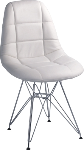 ABS Seat With PVC Cover eames DSR side Chair