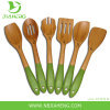 Pampered Chef Bamboo Spatula Spoon Set NEW UNOPENED - 6 piece set