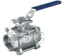 3-PC BALL VALVE WITH MOUNTING PAD