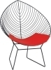lovely chromed Wire Lounge Chair with PU cushion