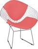 Eames Wire Chair chromed steel with PU cushion