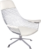 Wire bird Lounge Chair with cushion