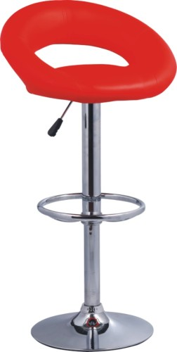 red PU Seat and Back Bar Chair
