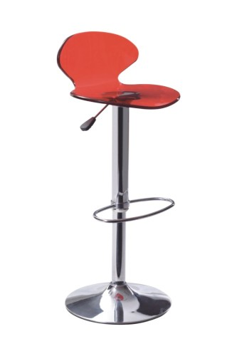 Red Arcylic Bar Chair