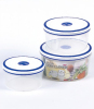 3pcs Round Plastic Food Container
