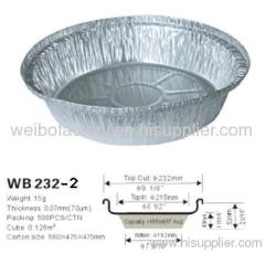 Disposable Aluminum foil food container WB 232-2