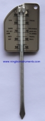 Stainless steel meat thermometer