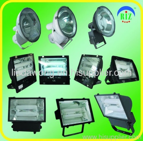 Induction flood lamp with lvd electrodeless light