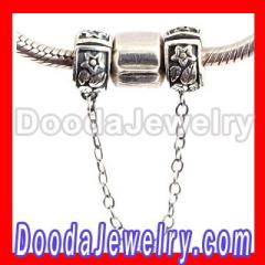 Wholesale Silver Safety Chain For european Bracelet