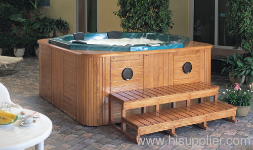 Polygon and round hot tub