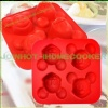4cups silicone mickey mouse cake pan