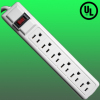 AC 125V 15A 1875W 60Hz 6 Outlets power surge protector