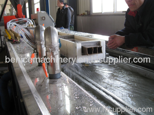 PE+wood plastic profile machine