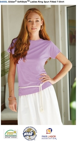 64000L Gildan® SoftStyleTM Ladies Ring Spun Fitted T-Shirt