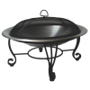 "26"" Round Stainless Steel Fire Pit Bowl"