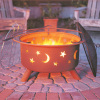 Outdoor Steel Stars & Moons Fire Pit