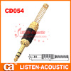 6.3mm mono / stereo plug connector with spring CD054/054N