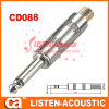 6.3mm mono / stereo plug connector CD088/088N