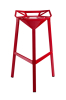 Fashion ergonomic red Aluminum frame Bar chair barstools 3 legs counter room bar chairs