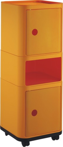 Modern Yellow Wheeled Easy Clean Storage Box 3 Layers Units Sqaure Plastic Box For Storage Suppliers In China