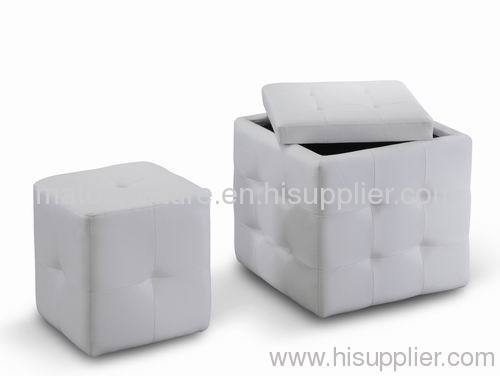 storage ottoman with small pouf