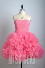 wholesale retail strapless tulle ball gown party dress,2012 new style
