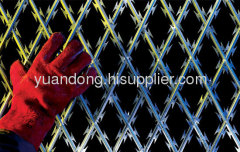 garden welded razor wire mesh fence stainless steel