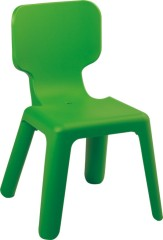 Kid's Lovely Green Plastic Seat Ergonomic children side chairs dining room furniture chairs