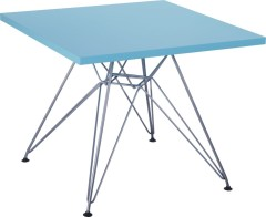 Fashion Blue wood table chromed base Kid's Desk children furniture tables