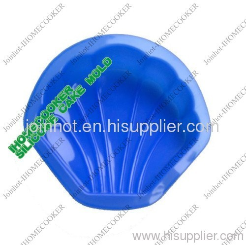 shell shape silicone muffin pan/cake mold /china supplier 11*11.5*2.5cm