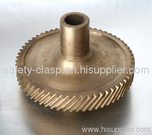 Hot forged drive shaft gear for electric reaper