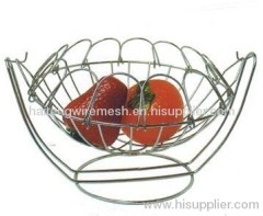 Stainless steel wire mesh fruit basket