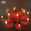 Double-deck lotus flower gift birthday candles