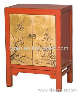 antique painted bedside cabinet