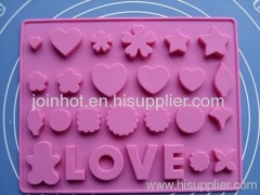 257mm 26 pattern silicone chocolate mold cookie mold baking bakeware