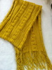 Ladies' acrylic knitted scarf