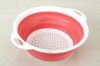 new round shape plastic collapsible colander