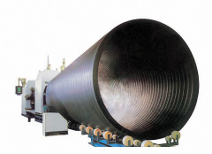 PE Large-calibre hollow wall winding pipe production line
