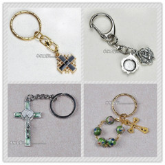rosary key chain,rosary mobile chain,religious key chain,metal key chain