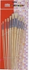 Wooden artist painting brush set