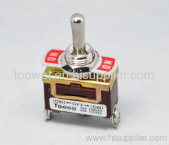 Toggle switch ON-OFF-ON spring to OFF
