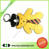Custom cartoon bear silicone soft rubber keyring