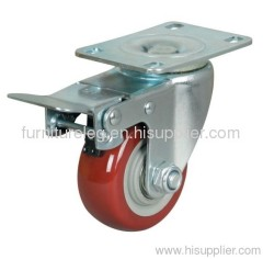PU Swivel Caster with Brake