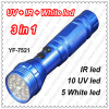 Multi-function LED laser flashlight