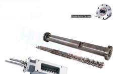 Parallel twin screw barrel for extruder