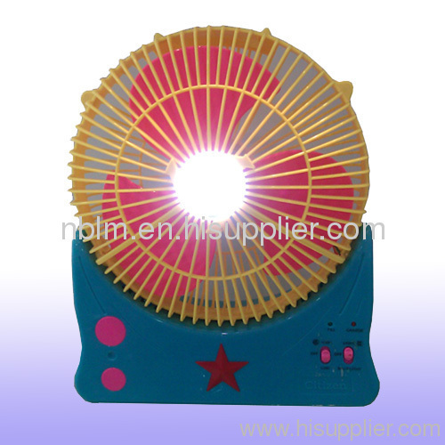 Solar Energy Table Fan with Rechargeable Battery