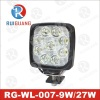 27w square led work lamps