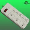 8-outlet power bar surge suppressor