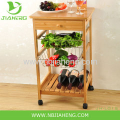 New Brand Bamboo Kyoto Kitchen Trolley Good Quality Multi Funtion