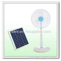 Solar Outdoor Portable Fan with 12